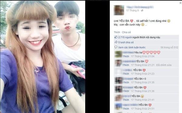 Cô gái này thậm chí còn mượn ngay chuyện bố mất để câu like và câu người theo dõi trên Facebook.