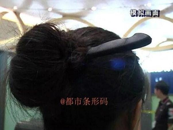 Tuy nhiên, người phụ nữ này đã bị an ninh tại một sân bay ở Côn Minh phát hiện. (Nguồn: CCTV News)