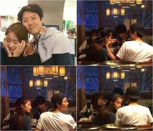 Những hình ảnh hẹn hò thân mật của cả hai được phóng viên ghi lại.