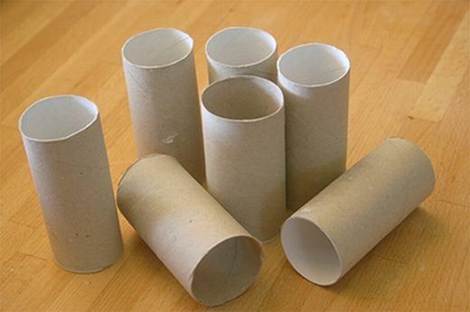 Công dụng mới của lõi giấy vệ sinh. (Ảnh: Internet)