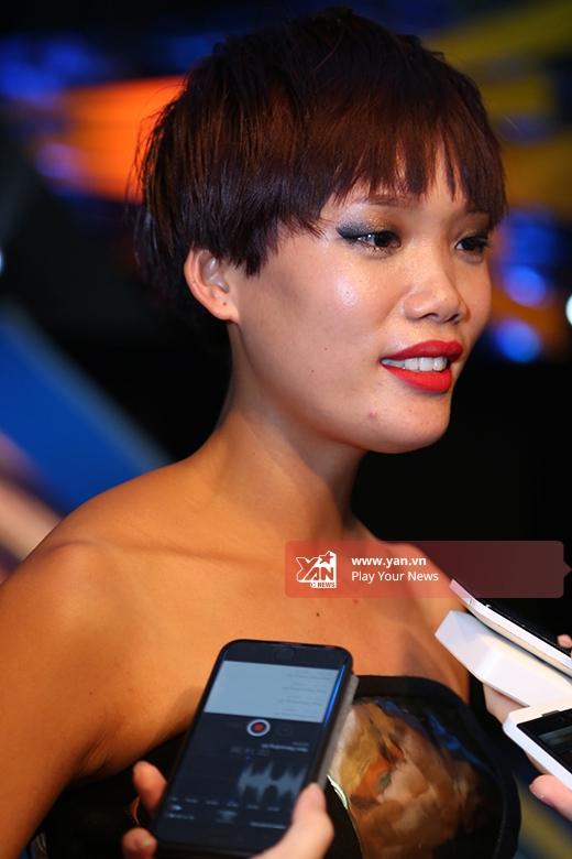 Nguyễn Hợp trả lời phỏng vấn khá muộn so với các thí sinh còn lại.
