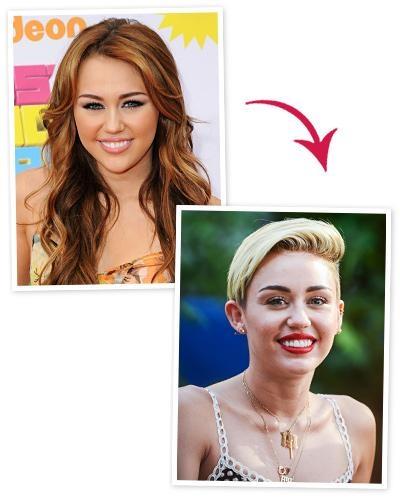 """Miley Cyrus đã làm cho mọi người một phen bất ngờ khi đánh đổi hình ảnh Hannah Montana quen thuộc bằng kiểu tóc ngắn màu bạch kim mang đậm chất rock. """"Thật khó tin khi với đầu tóc ngắn, mỗi ngày bạn lại có một kiểu tóc mới.Điều này thật sự vô cùng thú vị"""", cô nàng cho biết."""