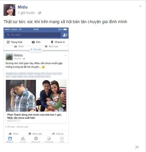Trang Facebook giả mạo nữ diễn viên chia sẻ bức xúc khi chuyện gia đình bị soi mói. - Tin sao Viet - Tin tuc sao Viet - Scandal sao Viet - Tin tuc cua Sao - Tin cua Sao