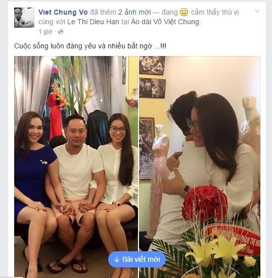 """Mới đây, trên trang cá nhân của nhà thiết kế Võ Việt Chung đã đăng tải 2 bức ảnh chụp chung với Phạm Hương và Hoa hậu Đông Nam Á - Diệu Hân với dòng trạng thái: """"Cuộc sống luôn đáng yêu và nhiều bất ngờ…"""". - Tin sao Viet - Tin tuc sao Viet - Scandal sao Viet - Tin tuc cua Sao - Tin cua Sao"""