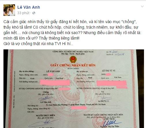 Văn Anh – Tú Vi hồi hộp kí tên vào giấy chứng nhận kết hôn - Tin sao Viet - Tin tuc sao Viet - Scandal sao Viet - Tin tuc cua Sao - Tin cua Sao