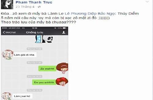 Còn Thanh Trúc thay vì đăng những hình ảnh tin nhắn tình cảm,... - Tin sao Viet - Tin tuc sao Viet - Scandal sao Viet - Tin tuc cua Sao - Tin cua Sao
