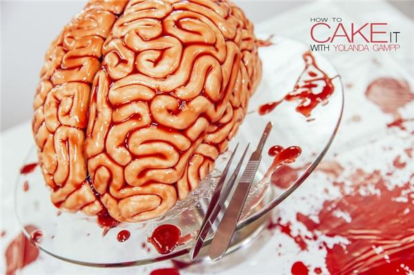 Ta-đa!!! Một chiếc bánh y như bộ não thật đã ra lò. (Ảnh: Internet)