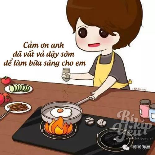 Anh - một người chẳng biết gì về bếp núc, nhưng vẫn cố nấu cho em ăn, dù chỉ là trứng chiên hay mì gói.