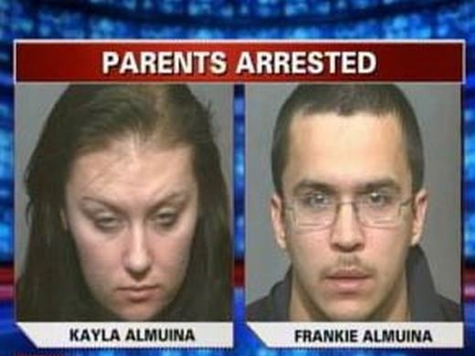 Hai vợ chồng ngược đãi con mình. (Ảnh: Internet)