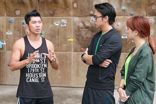 Nam ca sĩ Lương Bằng Quang đã có những chia sẻ, truyền cảm hứng về các môn thể thao mạo hiểm cho các bạn trẻ.
