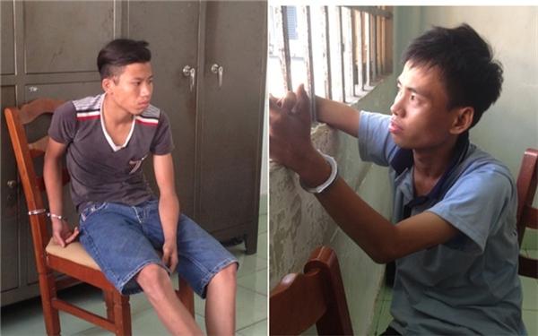 2 nghi can Phạm Hoàng Thanh (trái) và Lê Thanh Sang.