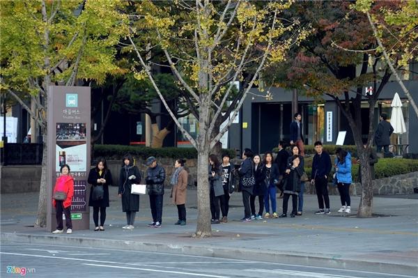 Người Hàn Quốc chờ xe bus cũng xếp hàng trật tự. Khi xe tới, họ từ từ bước lên quẹt thẻ, trả phí rồi ngồi đúng vị trí. Thanh niên luôn có ý thức nhường chỗ cho người già, phụ nữ, trẻ em và đặc biệt là phụ nữ mang thai.