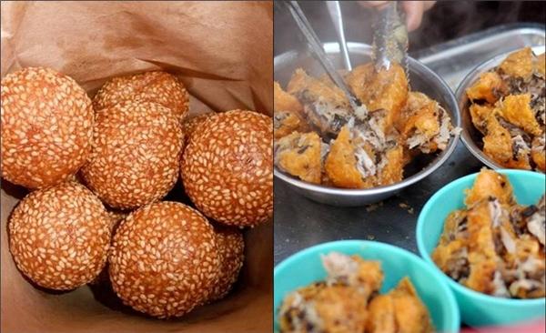 Bánh rán ở Lý Quốc Sư, Lạc Long Quân, Phương Mai, Lý Nam Đế, ngõ Phất Lộc... vốn nổi tiếng từ xưa đến giờ. Chỉ với từ 4.000 - 6.000 đồng/chiếc tùy mặn, ngọt. (Ảnh Internet)