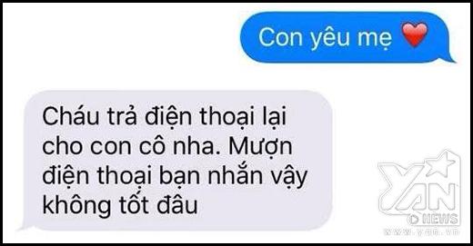 Những phản ứng khó đỡ của mẹ khi nhận được tin nhắn con yêu mẹ