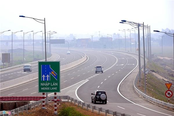 Tại các nút giao lớn sẽ có thêm 1-2 làn đường nhập làn cho các phương tiện.