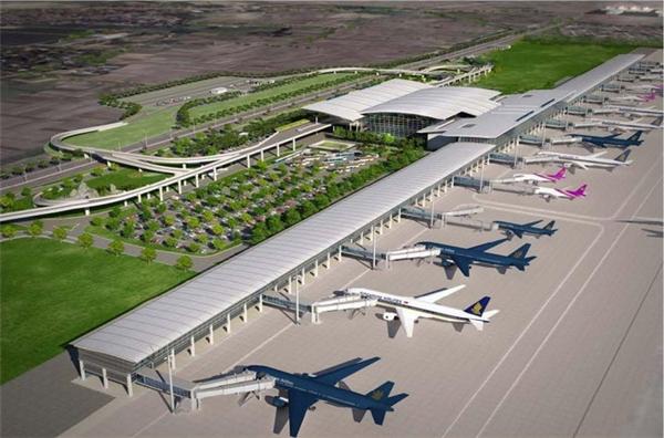Sân bay Nội Bài cảnh phối từ trên cao.