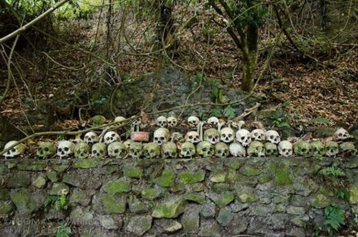 Trunyan là một trong số ít những ngôi làng ở Bali còn giữ tập tục đặt xác chết dưới một gốc cây cổ thụ cho tự phân hủy dần. (Ảnh: Internet)