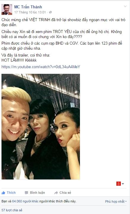 Trấn Thành mơ ước lấy vợ đẹp như Việt Trinh - Tin sao Viet - Tin tuc sao Viet - Scandal sao Viet - Tin tuc cua Sao - Tin cua Sao