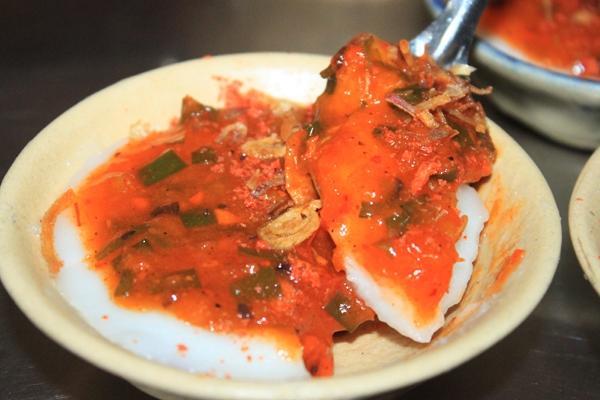 Phần nhân đặc biệt của bánh bèo Quảng.(Nguồn: Internet)
