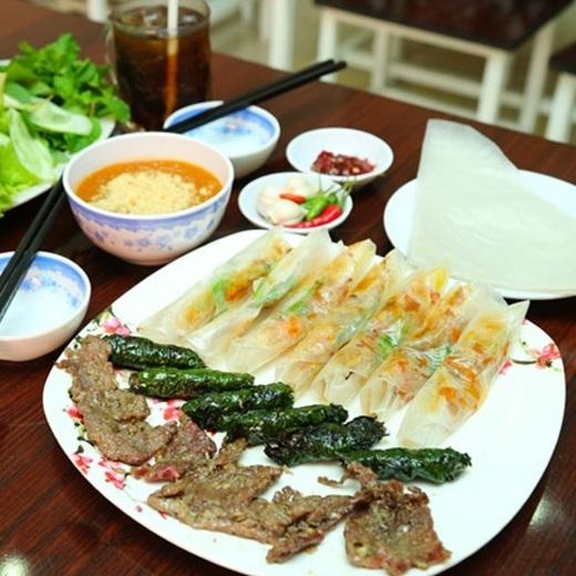 Món ram thịt nướng đã có từ rất lâu tại Quảng Ngãi.(Nguồn: Internet)