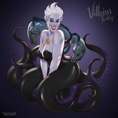 Mụ phù thủy biển Ursula trong bộ phim Nàng Tiên Cá.