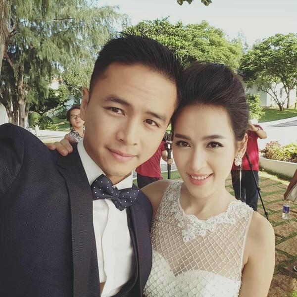 """Trước đó, nữ diễn viên đã """"nhá hàng""""hậu trường ảnh cưới cùng Văn Anh tại Hồ Tràm. - Tin sao Viet - Tin tuc sao Viet - Scandal sao Viet - Tin tuc cua Sao - Tin cua Sao"""