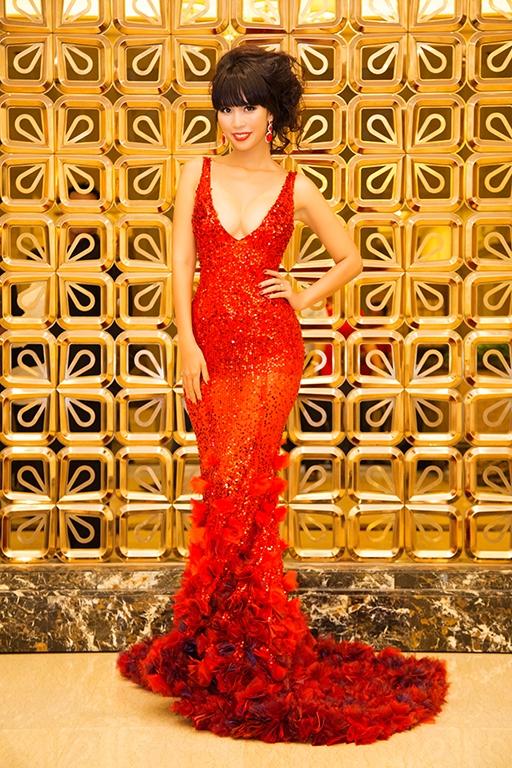 Hà Anh khoe đường cong nóng bỏng trong váy đỏ rực - Tin sao Viet - Tin tuc sao Viet - Scandal sao Viet - Tin tuc cua Sao - Tin cua Sao