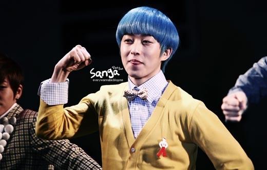 Mái tóc xanh biếc đã giúp Dongrim (Dalmatian) để lại dấu ấn trong lòng khán giả.