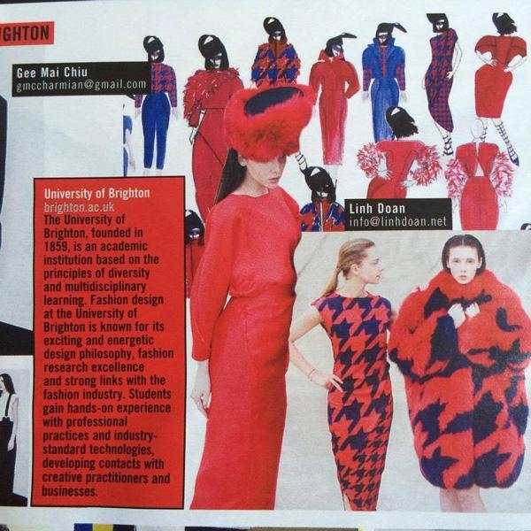 Những thiết kế của Kiều Linh được đăng tải trên tạp chí danh tiếng của Ý. (Ảnh: Internet)