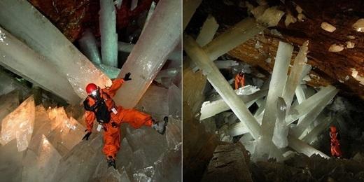Nếu không có các thiết bị bảo vệ và hỗ trợ, con người chỉ có thể ở trong hang động này được khoảng mười phút.(Nguồn: Internet)