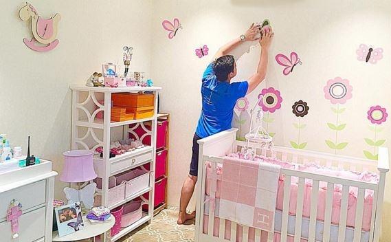 Chồng của Marian - nam diễn viên Dingdong- đang chuẩn bị phòng cho cô công chúa sắp chào đời
