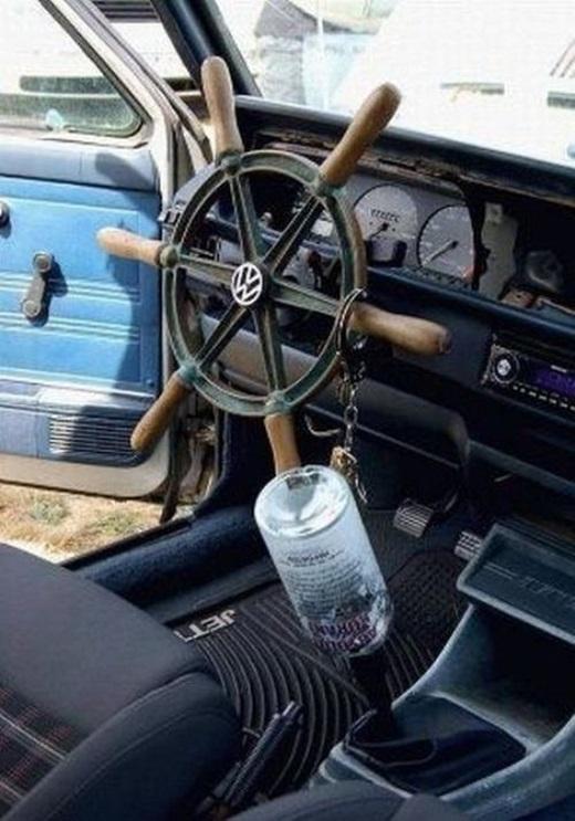 Ô tô với thiết kế đặc biệt chỉ dành cho thuyền trưởng. (Ảnh: Innamag)