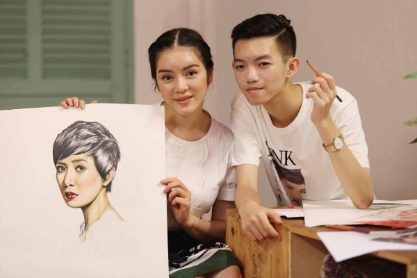 """Các bức vẽ hình ảnh của """"Hoa hậu TVB"""" Xa Thi Mạn và NTK Alexis Mabille sống động từng chi tiết hứa hẹn mang đến những bất ngờ với quan khách tham dự chương trình, đặc biệt là bạn bè quốc tế. - Tin sao Viet - Tin tuc sao Viet - Scandal sao Viet - Tin tuc cua Sao - Tin cua Sao"""