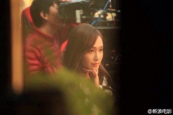Hình ảnh Jessica ghi hình cho bộ phim điện ảnh Love Delivery cùng Trần Vỹ Đình.
