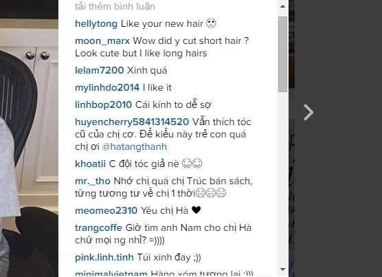 """Hầu hết khán giả, người hâm mộ đều không tiếc lời khen ngợi Tăng Thanh Hà khi cho rằng kiểu tóc này giúp cô """"trẻ như thuở 17""""."""