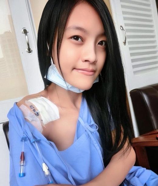 Hình ảnh tiều tụy của cô gái trong những ngày ở bệnh viện. (Nguồn: Internet)