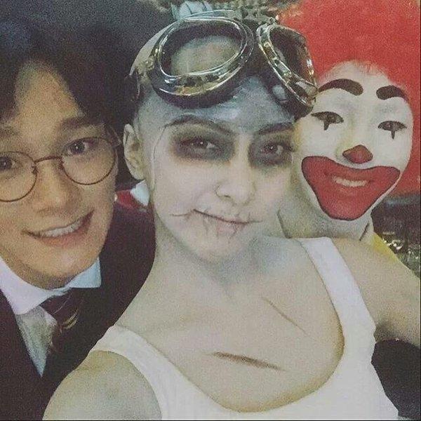 Trai xinh gái đẹp SM đồng loạt biến hình chơi Halloween