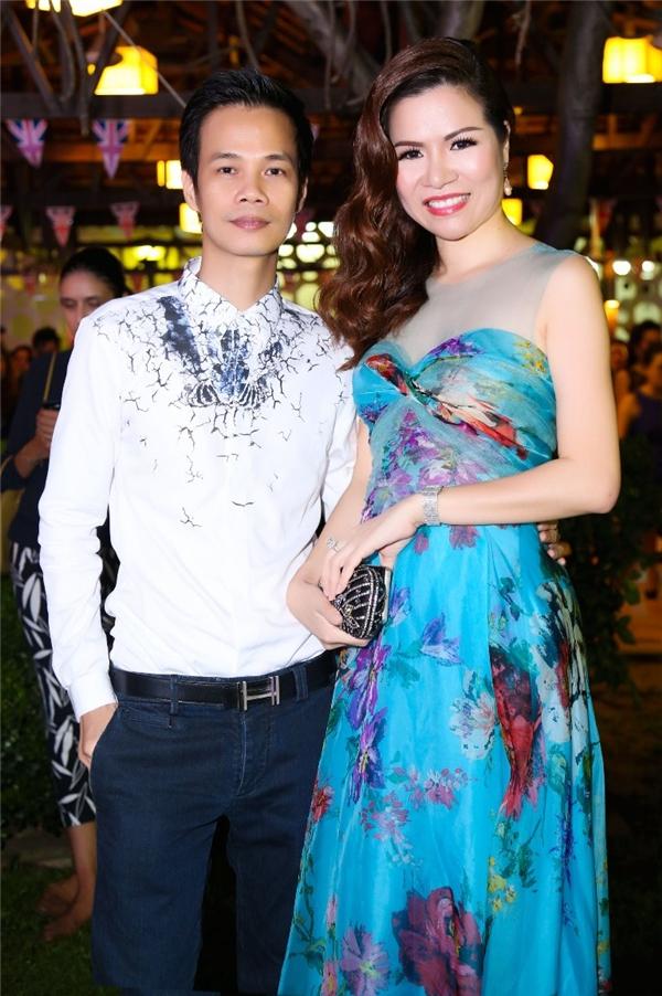Nhà thiết kế Hoàng Hải và Hoa hậu phu nhân Hanah Bùi.