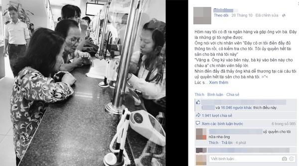 Câu chuyện ngọt ngào khiến cộng đồng mạng tan chảy. (Ảnh: Chụp FB)