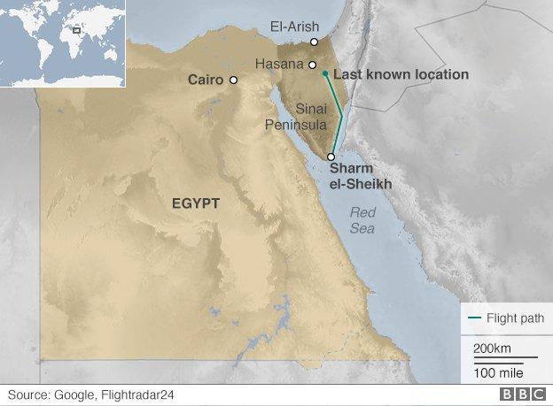Bản đồ khu vực tai nạn. Ảnh: BBC