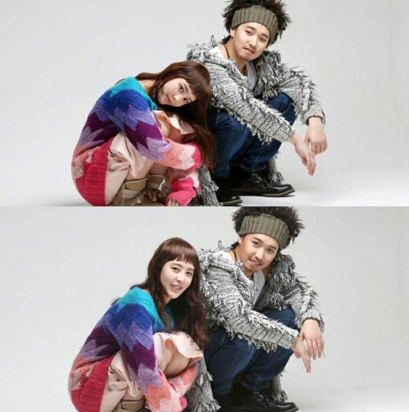 Sungmin (Super Junior) và vợ diễn tả lại khung cảnh quen thuộc của bộ phim Sorry, I Love You.