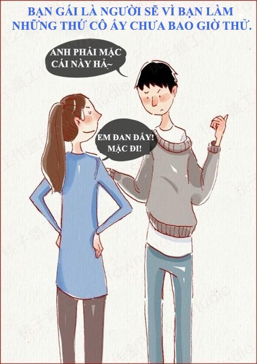 Bạn gái sẽ bắt đầu làm nhiều thứ có lẽ nghĩ tới còn không dám vì người bạn trai của mình.(Nguồn: Weibo)