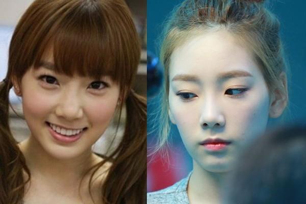 Khi mới ra mắt, mũi của Taeyeon được đánh giá kém đẹp, đặc biệt là phần đầu mũi bẹt, tròn trong khi hai cánh mũi lại khá to. Sau này, cô nàng đã chỉnh sửa thu nhỏ cánh mũi giúp gương mặt thanh thoát và sang trọng hơn hẳn.