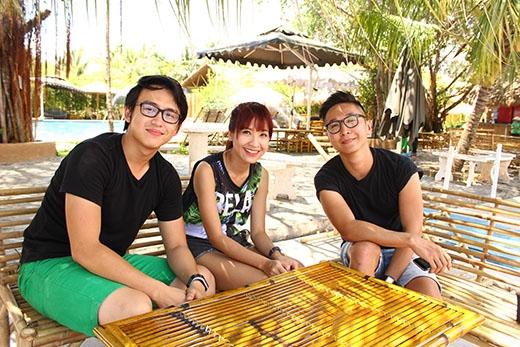 """Quang Bảo và Kim Nhã học hỏi được rất nhiều điều từ anh chàng """"hot instagram"""" này."""
