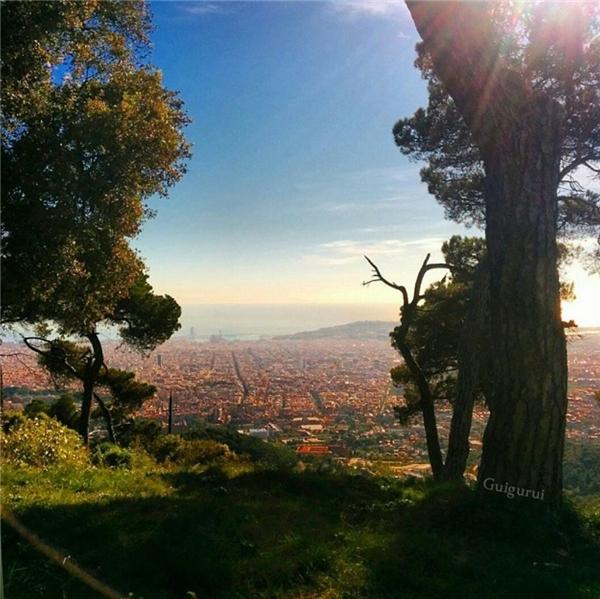"""Từ ngọn đồi cao rợp bóng cây xanh, phóng tầm mắt ra xa để """"chiếm trọn"""" thành phố cho riêng mình.(Ảnh: Guigurui)"""