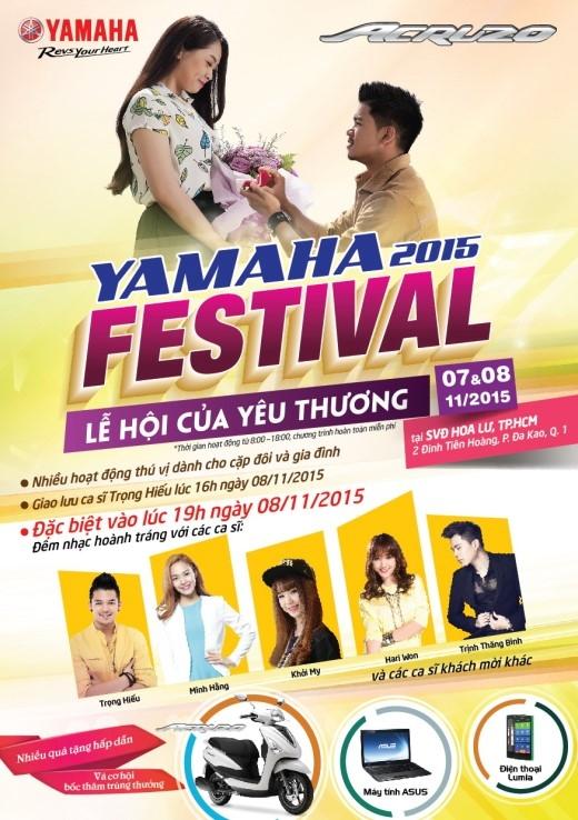 Sài Gòn nóng cực độ với cơn sốt lễ hội Yamaha Festival 2015