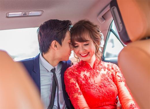 Nữ diễn viên hạnh phúc bên chồng trong ngày cưới. - Tin sao Viet - Tin tuc sao Viet - Scandal sao Viet - Tin tuc cua Sao - Tin cua Sao