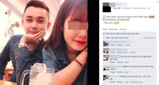 Những dòng chia sẻ tình cảm vẫn còn nguyên vẹntrên trang cá nhân của cô gái. (Ảnh chụp màn hình FB)
