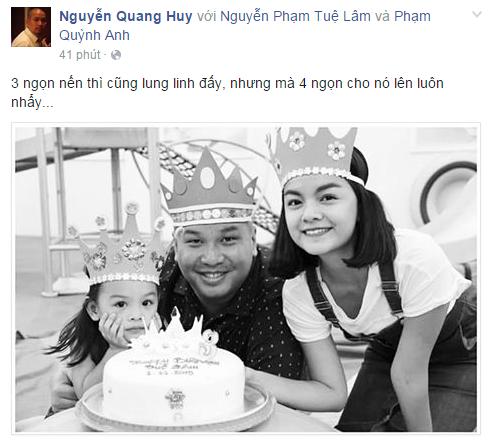 Dòng trạng thái khiến fan đặt nghi vấncủa ông bầu Quang Huy. - Tin sao Viet - Tin tuc sao Viet - Scandal sao Viet - Tin tuc cua Sao - Tin cua Sao