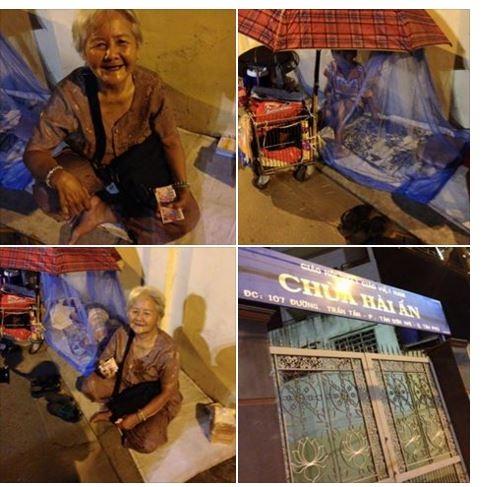 Nụ cười lạc quan vẫn nở trên môi của bà cụ 72 tuổi bán vé số nuôi cháu. Ảnh: Chụp màn hình
